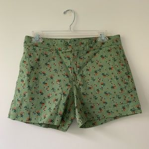 Anthropologie green printed shorts